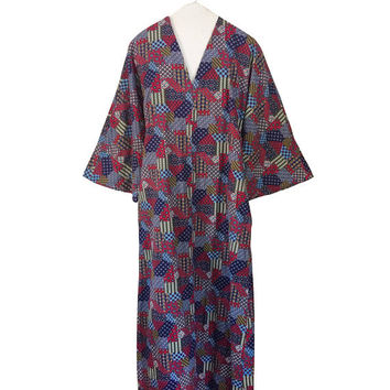 70s Kaftan Dress Hippie Clothing Hippie Maxi Dress Festival Clothes Bell Sleeve Dress With Pockets 70s Maxi Dress Blue Caftan Dress Red