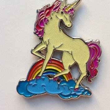 "The Unicorn Glow in The Dark Pin- 1.25"" double posted festival hat pin LE 100"