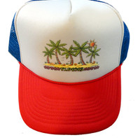 FLORIDA vintage snapback trucker hat cap palm trees