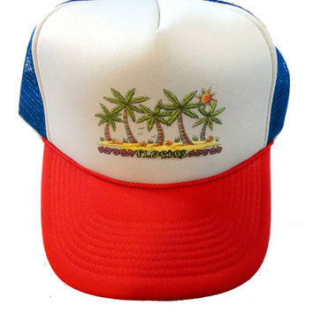 003788dcef FLORIDA vintage snapback trucker hat cap palm trees