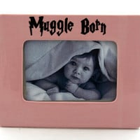 Harry Potter Fan Baby Girl Frame Pink Funny shower by LennyMud