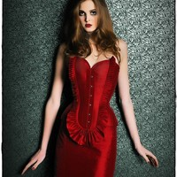 Overbust corset Rhea by VCoutureBoutique on Etsy