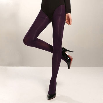 Guaranteed Genuine TSJ New Candy Color Tights for Women Pantyhose 2015 Fashion Sexy Tights Super Elastic Nylon Pantyhose 100D = 1958302084