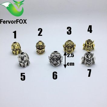 Skull Skulls Halloween Fall Paracord Beads Metal Charms  For Paracord Bracelet Accessories Survival,DIY Pendant Buckle for Paracord Knife Lanyards Calavera
