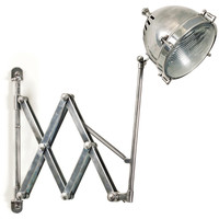 "Brass Accordion ""Headlight"" Sconce"