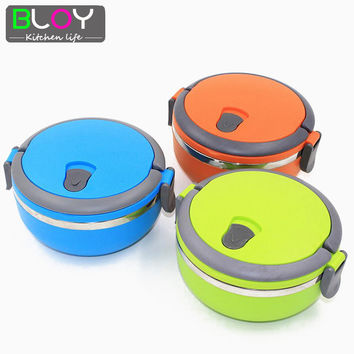 Stainless Steel 700ml bento Lunch Box with handle lunchbox food container thermos for food for kid free shipping
