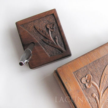 Pen holder wooden, upcycled wood Wedding Flower