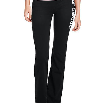 Online Exclusive Foldover Waist Yoga Flare Pant - PINK - Victoria's Secret