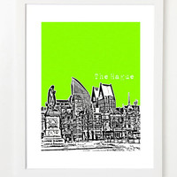 The Hague Skyline Poster - Netherlands City Skyline Series Art Print - 8x10 - Den Haag