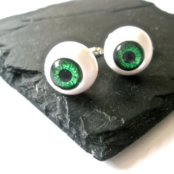 Eye Ball cufflinks Steampunk Gothic jewellery alternative wedding accessories gift for best man geek wear