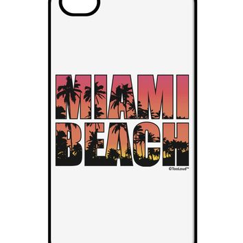 Miami Beach - Sunset Palm Trees iPhone 4 / 4S Case  by TooLoud
