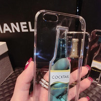 Creative cocktail mobile phone case for iPhone 7 7 plus iphone 5 5s SE 6 6s 6 plus 6s plus + Nice gift box 71501