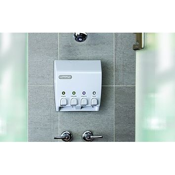 Two,Three, or Four Chamber Wall Mounted Bathroom Shower Shampoo, Conditioner, Lotion, Soap Dispenser