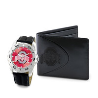 Ohio State Buckeyes NCAA Men's Watch & Wallet Set