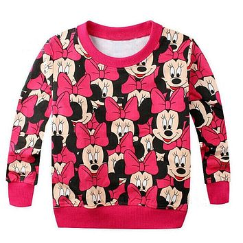 Hot baby girls boys cartoon mickey cotton printing t-shirts children lovely minnie t shirts tees tops girls hello kitty clothes