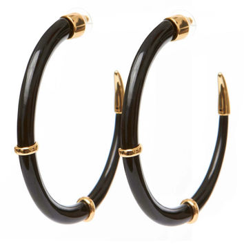 Ruhiyyih Earrings in Black/Gold