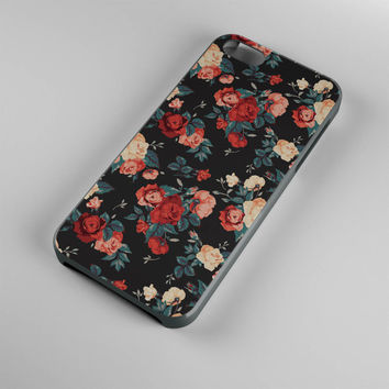 DS274-iPhone Case - Iphone 5 case-Iphone 5s case - Iphone 4 case - Iphone 4s case - Iphone Cover -Black Roses Flowers iPhone Case Vintage