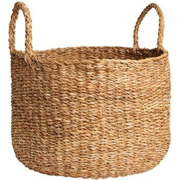 Braided storage basket - Natural - Home All | H&M CA