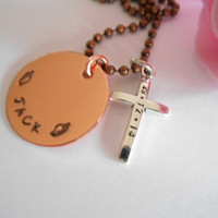 Rememberance Copper Necklace With Stamped Date And Name In Memorian Loving Memory