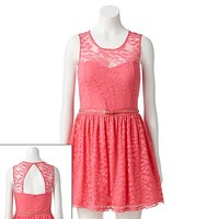 Candie's Lace Sweetheart Skater Dress - Juniors