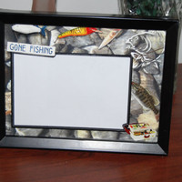 8x6 Fishing Inspired Framed Picture Matte