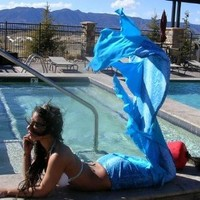 Mermaid Tail: Angel Tail (Aqua Snakeskin, Child L/Adult S (size 4-6)