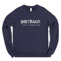 dirtbags-Unisex Navy Sweatshirt