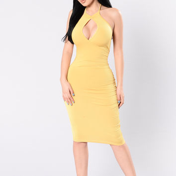 Fantasies Dress - Gold