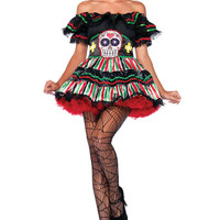Leg Avenue Day of the Dead Doll Costume