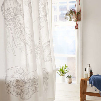 Glow-In-The-Dark Jelly Fish Shower Curtain - Urban Outfitters