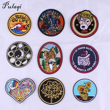Pulaqi Stranger Things DIY Iron On Patch Embroidery Applique Ironing Clothing Sewing Supplies Decoration Badge Sew On Badges F