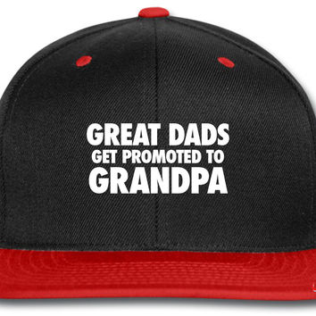 Great DadPromoted To Grandpa snapback