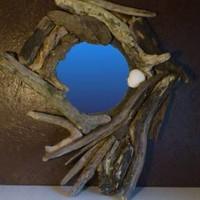 BoGaLeCo.com / Decorative objects / driftwood / Frame / hex mirror