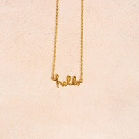 Heather Hello Gold Necklace