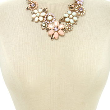 Flower Statement Necklace | Forever 21 - 1000203500