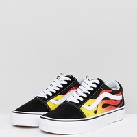 Vans Old Skool Flame Trainers at asos.com