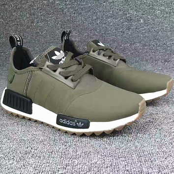 """Adidas"" Women Fashion Trending Running Sports NMD Shoes Army Green"