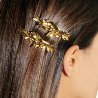 Jennifer Behr | Set of two gold-tone leaf hair clips | NET-A-PORTER.COM