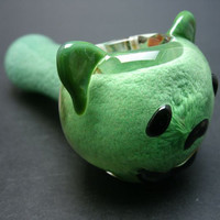 Grateful Dancing Bear Glass Pipe in Your Choice of Color