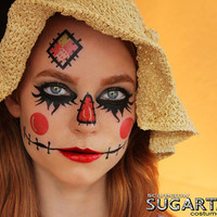 Scarecrow - Temporary Tattoos - Costume Halloween 2013 Makeup
