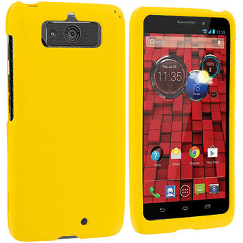 Yellow Hard Rubberized Case Cover for Motorola Droid Mini XT1030