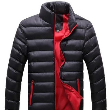 Mens Black Bomber Puffer Jacket