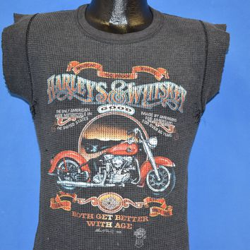 80s Harley Davidson Whiskey Better With Age t-shirt Extra Small