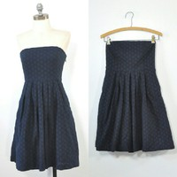 Navy Strapless Dress Strapless Eyelet Emily Dress