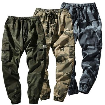 New Mens Military Army Combat Cotton Camo Cargo Pants Tactical Camouflage Trousers Long Plus Size Pants with Multi-pockets K9025