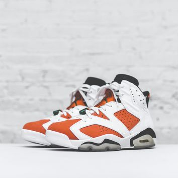 Nike Air Jordan 6 - White / Orange / Black