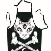 3 Eyed Cat Cooking Apron
