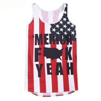 'Merica Tank Tops - Ladies Sleeveless Tops