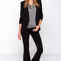 RES Denim Ramble On Black Flare Jeans