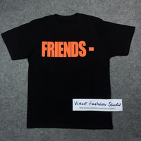 2016 summer Vlone For Know Wave friends letter big V print ASAP Rocky short sleeve t-shirt tee